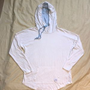 Southern Tide Long Sleeves Cover Up Hoodie White
